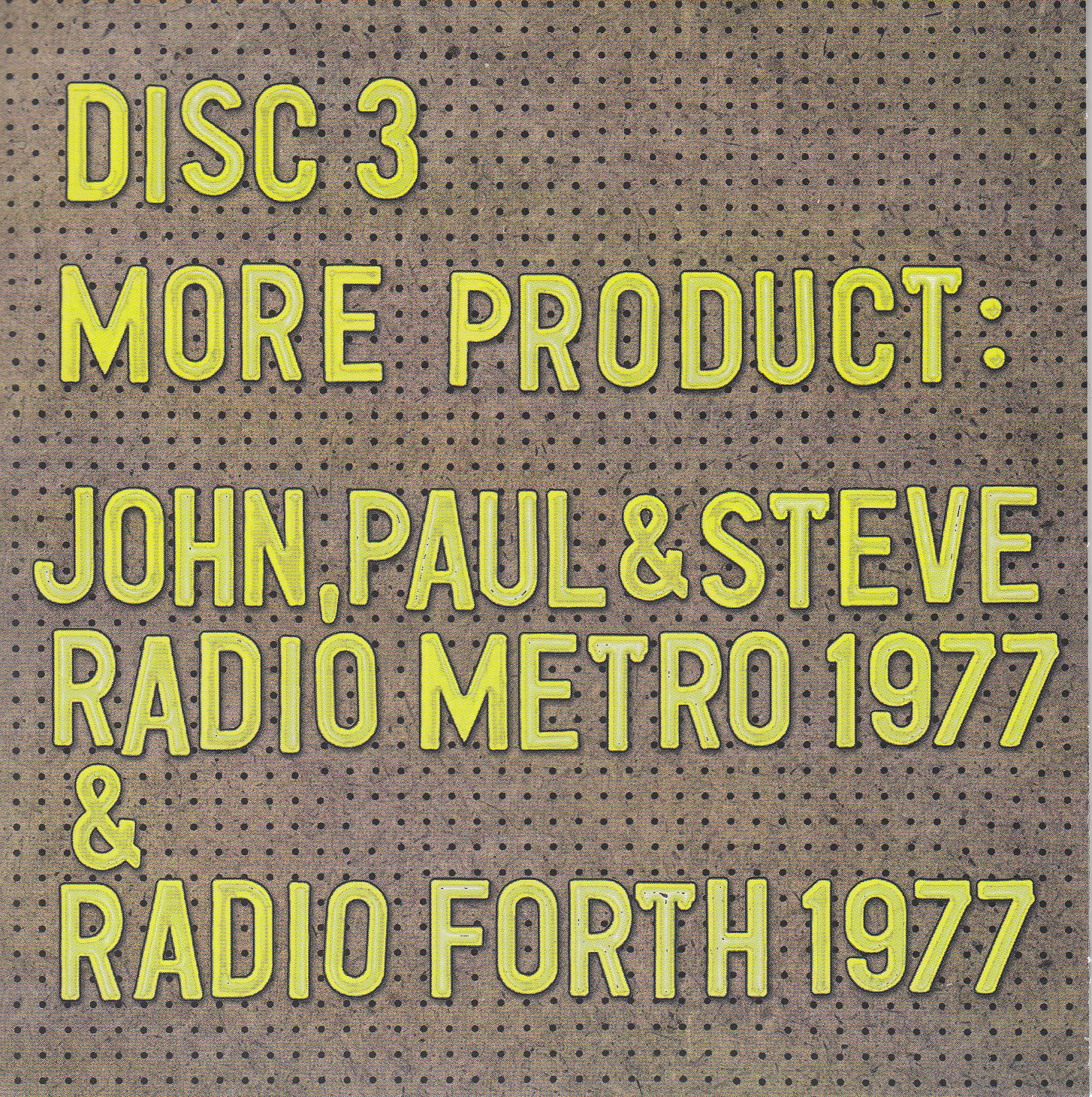 disc 3 cover front