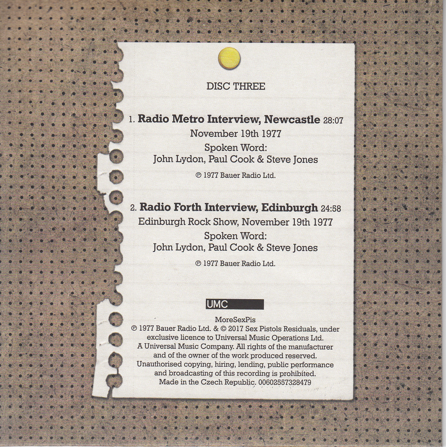 disc 3 cover back