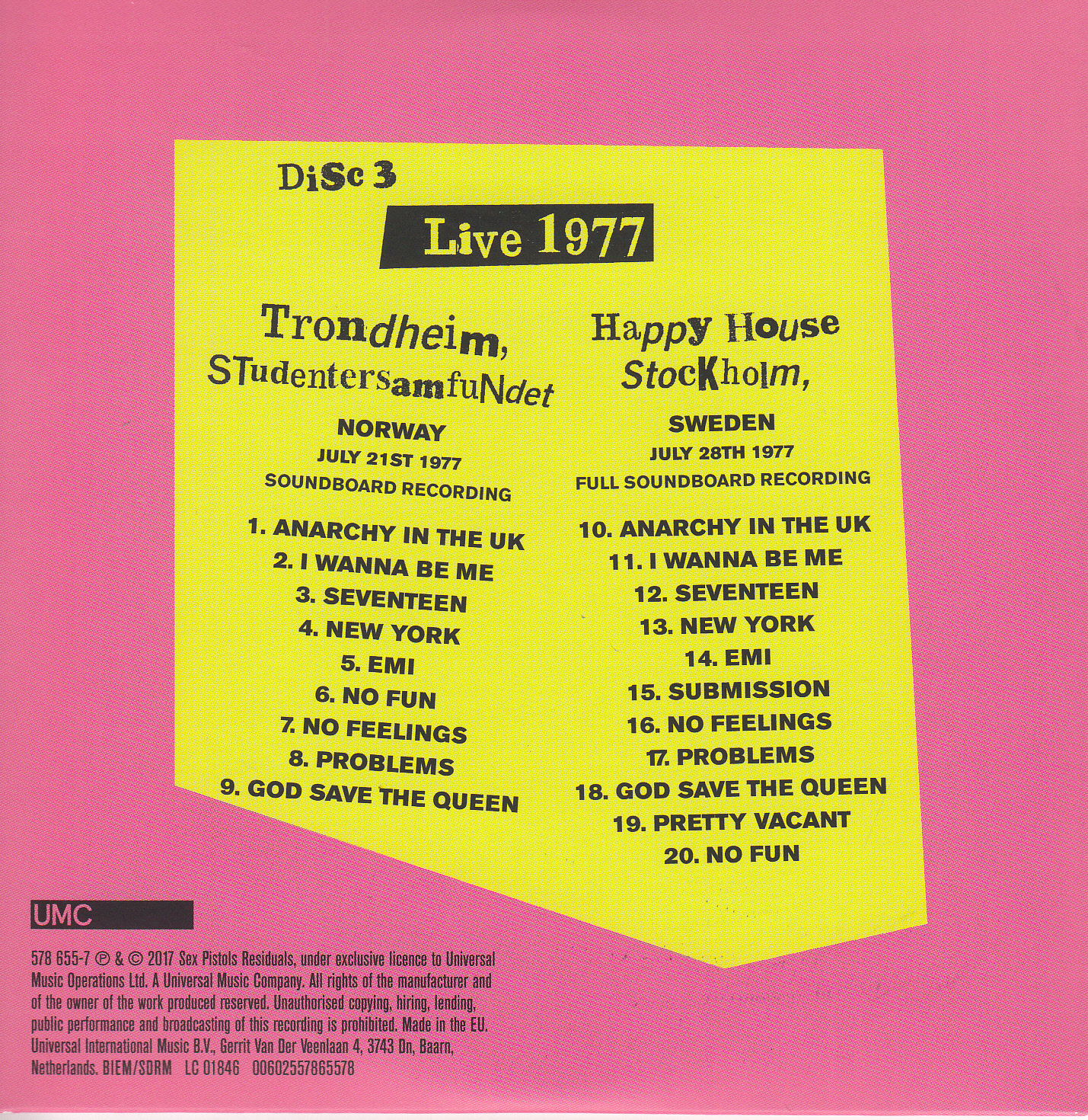 Disc 3 back cover