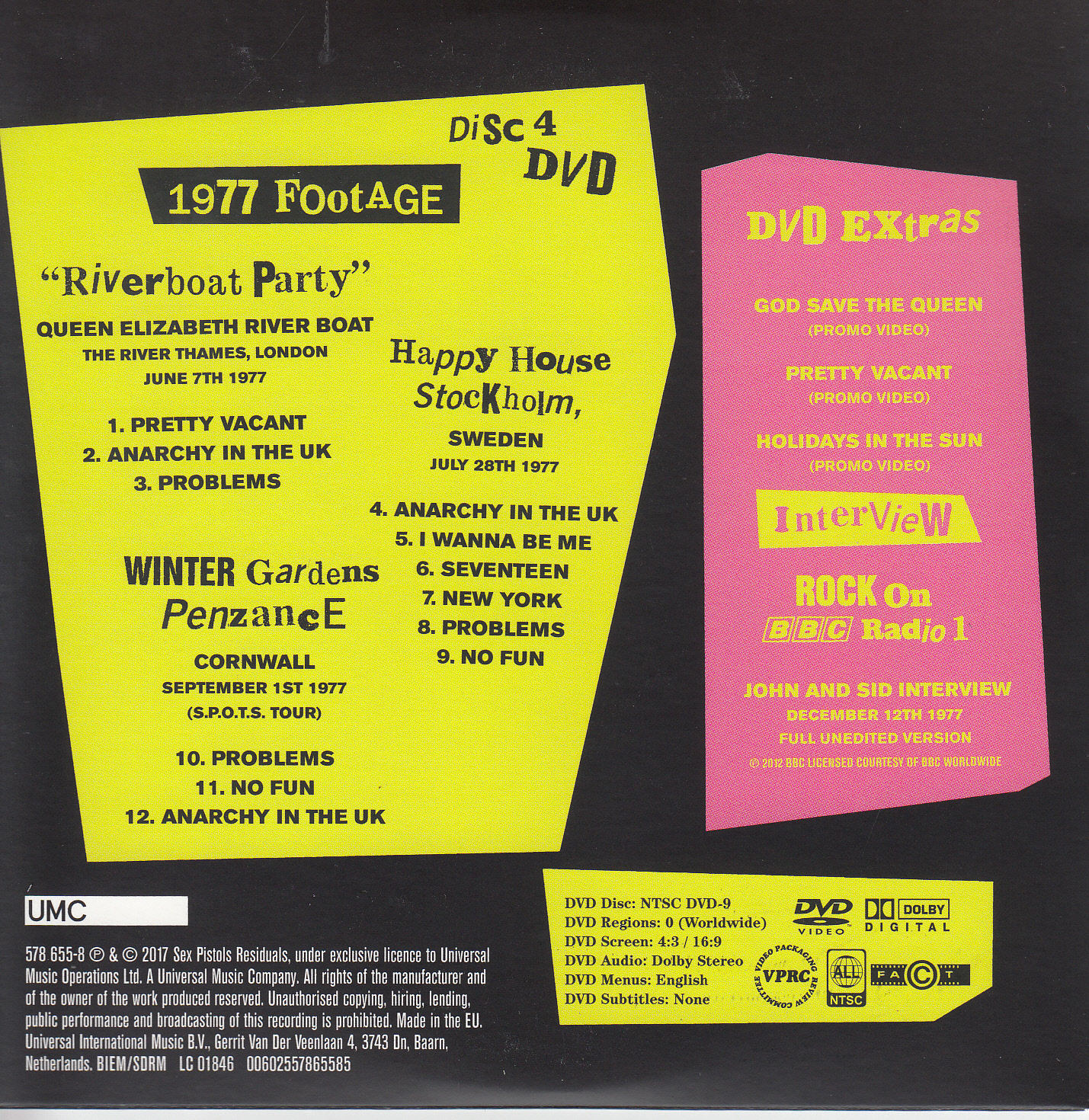 Disc 4 back cover